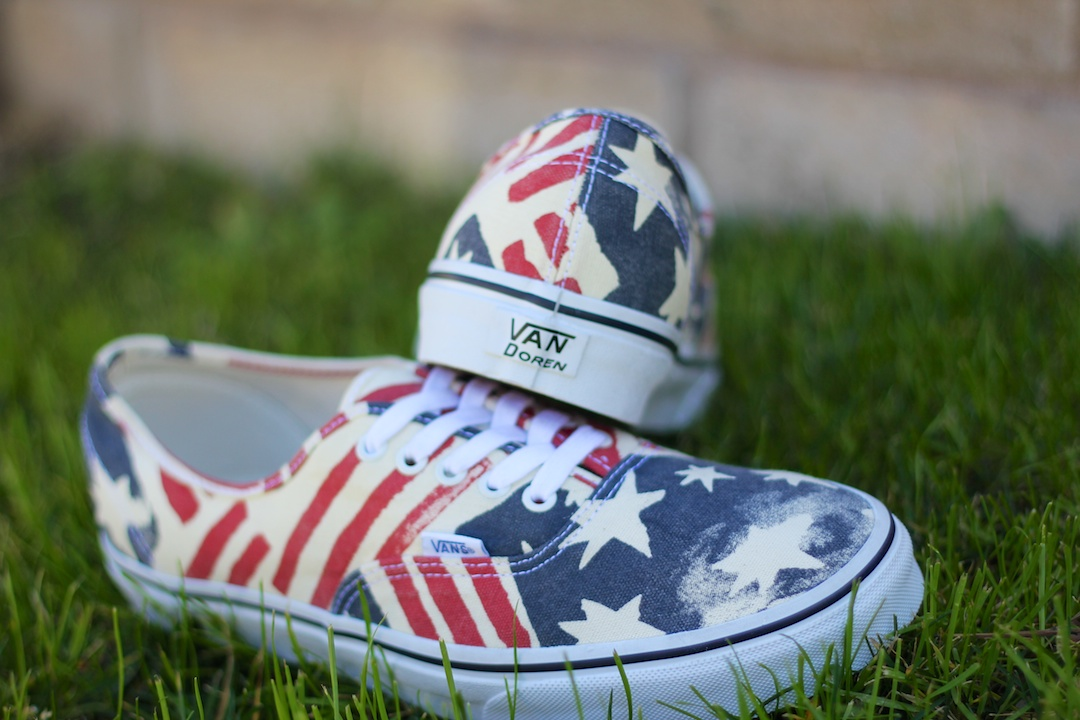 Vans Van Doren Authentic Retro Flag Heel
