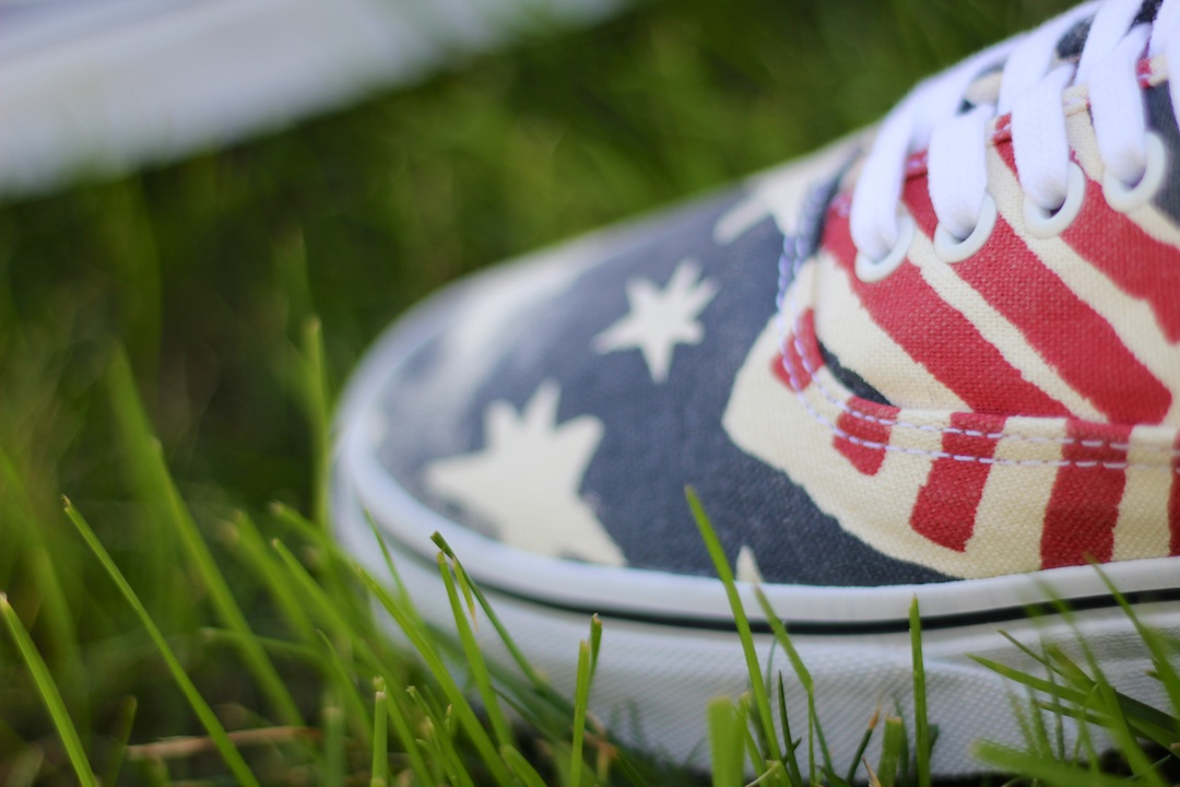 Vans Van Doren Authentic Retro Flag Detail
