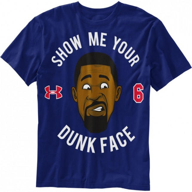 Under Amrour DeAndres Dunk Face t-shirt