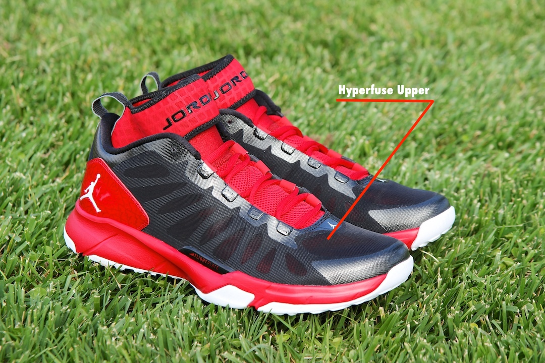 Jordan Trunner Dominate Pro Outsole Black/White - Gym Red Hyperfuse Upper