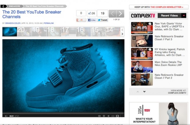 Complex Magazine Lists the Top 20 Sneaker Channels on Youtube
