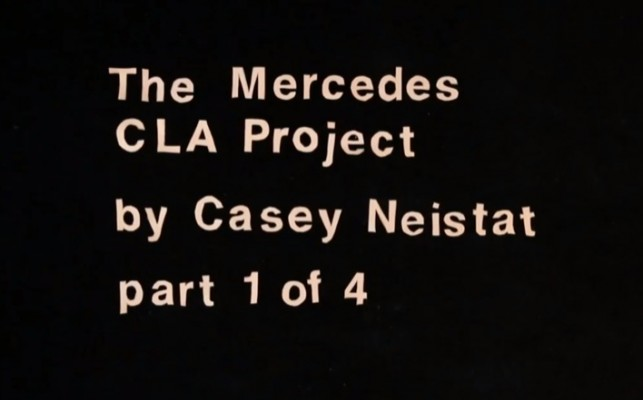 Video: The Mercedes CLA Project