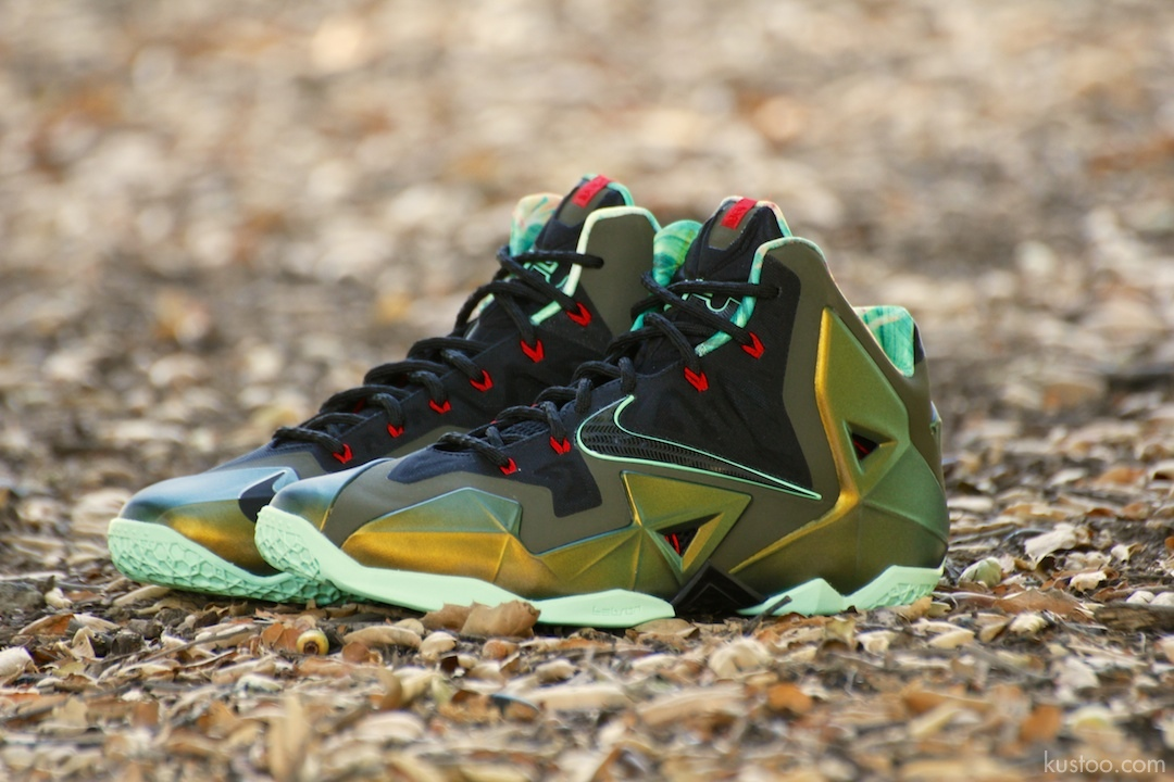 Lebron 11 Kings Pride On Feet 2013 Nike LeBron Xi 14