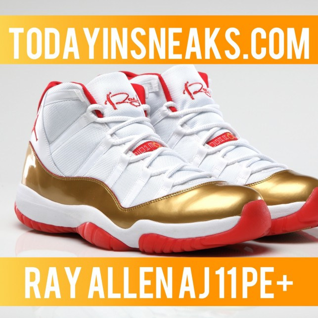 Ray Allen Air Jordan 11 PE, LeBron 11 Akron vs Miami, and More – Today in Sneaks