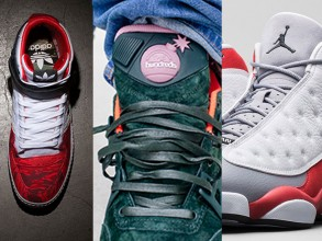 Air Jordan 13 Grey Toe, Black Scale x adidas, Reebok x The Hundreds on Today in Sneaks