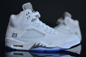 Air Jordan 5 White Metallic